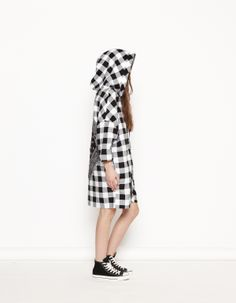 #DEMI #bandana #black #white #plaid #pattern #hoodie #sweat