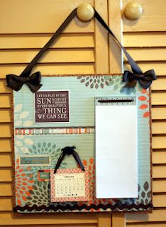 cork backed message/calendar wall hanging! Authentique papers