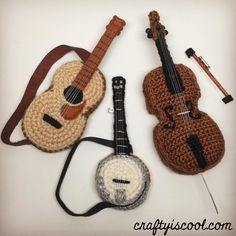 Amigurumi Guitar : Gretsch white falcon in crochet. A fantastic guitar ...