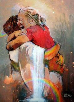"""Awesome painting, it's called, """"First Day in Heaven""""."""