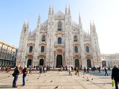 Duomo of Milan.  Walking around on the roof of it is breathtaking!