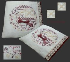Un coussin de mariage... http://solo.brode.over-blog.fr/article-34087179.html