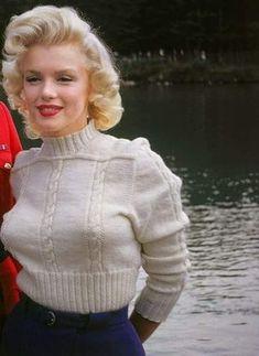 Marilyn in Canada, 1953. Photo by John Vachon.