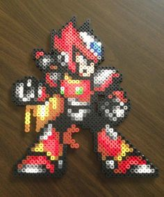 Zero perler bead sprite Megaman X video game art by HouseofMog
