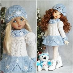 """DRESS,HAT&BOOTS SET MADE FOR EFFNER LITTLE DARLING 13"""",MY MEADOW DOLLS #Unbranded"""