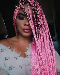 Box braids on er paula ferrone there box braids on er paula ferrone there by lorena_liraa adm there amoboxbraids braidsboxbraids boxbraid trendy braids africanas azules ideas braids rasta braids blue rasta braids blue Small Box Braids, Short Box Braids, Blonde Box Braids, Jumbo Box Braids, Pink Box Braids, Try On Hairstyles, Braided Hairstyles For Black Women, Box Braids Hairstyles, Braid Hair