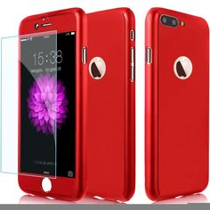 iPhone 7 Plus Case, 2win2buy Full Body Protection Hard Case Ultra Slim Shockproof Cover[Dual Layer]with 9H Clear Tempered Glass Screen Protector for iPhone 7 Plus 5.5 inch [Red]. Designed with iPhone 7 Plus 2016 5.5 inch in mind, the hard PC case fits snugly over the volume buttons, Sleep/Wake button, and curves of your device without adding bulk. Made of PC material that will not block the signal and it can always keep the signal full grid. 360 DEGREE ALL AROUND FULL BODY PROTECTION, set…