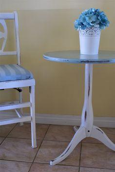 Blue shabby chic  www.facebook.com/2ndhomefurnishings Blue Shabby Chic, Chalk Paint, Home Furnishings, Facebook, Table, Furniture, Home Decor, Homemade Home Decor, Tables