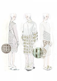 Fashion Sketchbook - fashion illustrations; fashion portfolio // Caroline Sheraton