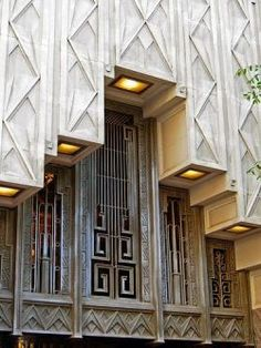 Exterior detail, Sinclair Building, Main Street, Fort Worth, Texas, U.S.A. Designed by Wiley G. Clarkson, 1930.