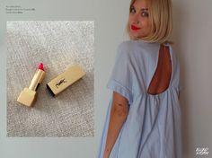 #Jumpsuit #Tattoo #YvesSaintLaurent #Blue #BlondStorm #BlogMode #Swarovski #Collier #Necklace #Outfit #Look #Style #Fashion #Mode #LookBook