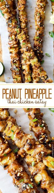 Thai Pineapple Peanut Chicken Satay - Happy Cook Happy Life