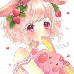 Find images and videos about cute, anime and kawaii on We Heart It - the app to get lost in what you love. Kawaii Anime Girl, Anime Girl Pink, Manga Kawaii, Arte Do Kawaii, Anime Girl Cute, Beautiful Anime Girl, Kawaii Art, I Love Anime, Pink Hair Anime