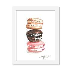 macrons - 8 x 10 print - JustGreet Watercolours, Coasters, Art Prints, Art Impressions, Coaster