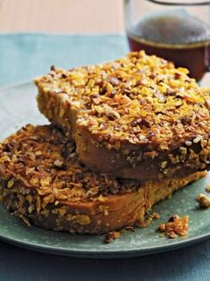 Pumpkin-Pecan Pie French Toast with Buttered Pecan Syrup from Sunny Anderson 'Sunny's Kitchen' cookbook.