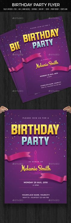 Retro New Year Party Flyer  Party Flyer