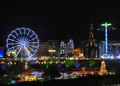 #Edinburgh's wonderful Princes Street Gardens #Christmas funfair viewed from Market Street. This is a fantastic #city at any time of year but at #Christmas it is just #magical. #xmas #IgersEdinburgh #Scotland #IgersScotland #travel #tourism #tourist #leisure #life #xmas #fair #funfair #bigwheel #thrillertainment