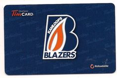 2013 WMJHL Kamloops Blazers FD36350 Jr Sports, Tim Hortons, Gift Cards, Hockey, Blazers, Arts And Crafts, College, Gifts, Collection