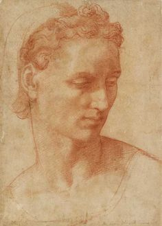 'Donatello, Michelangelo, Cellini: Sculptors' Drawings from Renaissance Italy' is at the Isabella Stewart Gardner Museum from 23 January 2015 Trois Crayons, Renaissance Artists, Renaissance Paintings, Chalk Drawings, Art Drawings, Academic Art, Portrait Art, Portraits, High Art