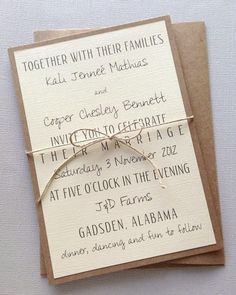Rustic Modern Wedding Invitations by LemonInvitations on Etsy