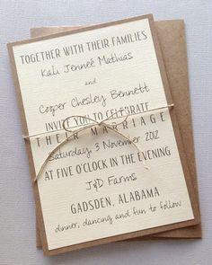 Rustic Modern Wedding Invitations by LemonInvitations on Etsy, $2.00