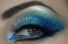 green blue eyeshadow