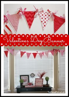 recollections valentine's day pennant | also love the feeling in the air with this holiday full of hearts ...