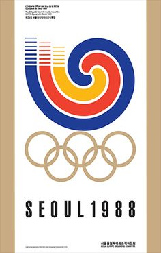 Olympic posters from the first modern games in 1896 to 2008 – in pictures - Century Olympic posters: 1988 Seoul Olympics games Century Olympic posters: 1988 Seoul Olympics gam - 1988 Olympics, Summer Olympics, Special Olympics, Olympic Logo, Olympic Sports, Modern Games, Sports Graphics, Qi Gong, Beautiful Posters