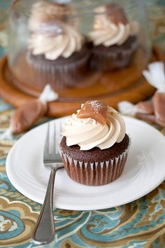 Chocolate Salted Caramel Cupcakes - Cupcake Daily Blog - Best Cupcake Recipes .. one happy bite at a time! Chocolate cupcake recipes, cupcakes