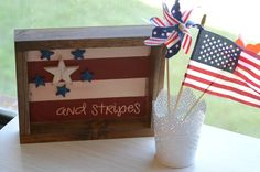 Stars and Stripes Shadowbox - The Wood Connection Blog