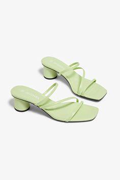 Sandal heels - Metallic green - Shoes - Monki GB