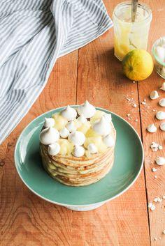 Layer cake de crêpes façon tarte au citron {sans lait} - aime & mange