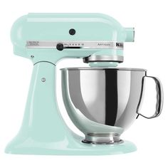 Classic ten-speed stand mixer in ice with a 5 qt. bowl.     Product: Stand mixer   Construction Material: Metal a...