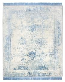 Rug Star. Rajasthan 01 No. 01 Light Blue Grey. Silk Fringes. 35% wool 65% Chinese silk. 250 cm x 300 cm