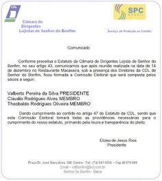 NONATO NOTÍCIAS: CDL Sr. do Bonfim emitiu comunicado relacionado a ...