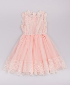 Another great find on #zulily! Mia Belle Baby Pink Lace Skater Dress - Toddler & Girls by Mia Belle Baby #zulilyfinds