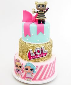 Lol Surprise Birthday Cake with regard to Party - Birthday Ideas Make it Doll Birthday Cake, Funny Birthday Cakes, Girl Birthday Themes, Bday Girl, 6th Birthday Parties, Funny Cake, 9th Birthday, Birthday Ideas, Surprise Cake