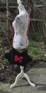 knitted diamond flower bag