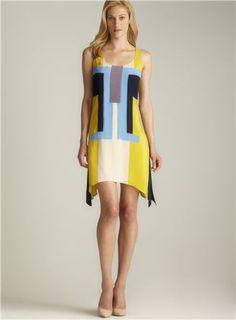 Beth Bowley silk colorblocked dress