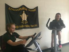 44 pupils taking part in a sponsored bike ride in shifts within 24 hours cycling the distance from Abbotsholme to Holland to raise money for their kit when they go on tour their in October #abbotsholmeschool #hockey #sport #bike