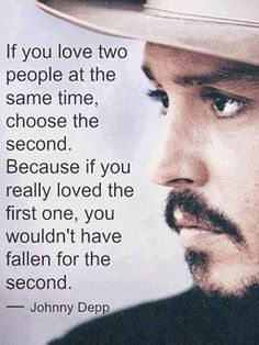 Johnny Depp on love… wow