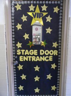 Hollywood and Movie Themed Back To School Door Display and Bulletin Board Idea