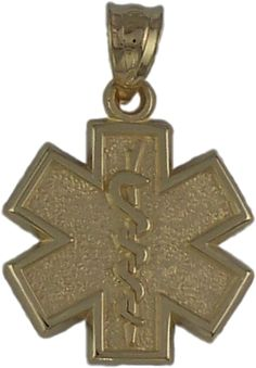 Gold firefighter jewelry have this item custom made just for you or 14k yellow or white gold star of life pendant pbs031 14k aloadofball Images
