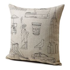 CITY ICON PILLOWS | New York, San Francisco & Seattle Cushions | UncommonGoods