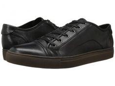Frye Justin Low Lace (Black Vintage Leather) Men's Lace up casual Shoes