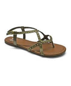Another great find on #zulily! Brown Studded Lynn Slingback Sandal #zulilyfinds