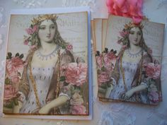 The Queen Notecards With Envelope Gift Tags Set, Stationery,Cards    CTS 006 by smtiffanylane on Etsy