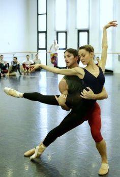 Nicoletta Manni e Mick Zeni Cello suites rehearsal - Heinz Spoerli - Teatro alla Scala
