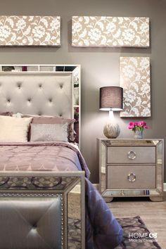 beautiful bedroom decor tufted grey headboard