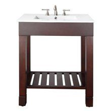 """View the Avanity LOFT-V30 Loft 30"""" Floor-Standing Vanity with Open Shelf, and Built in Towel Bars at FaucetDirect.com."""